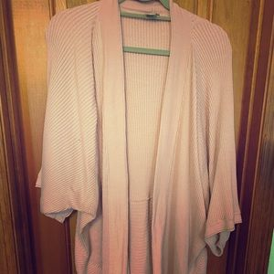 Pale pink, soft open cardigan